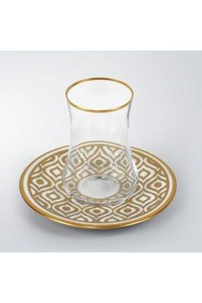 Koleksiyon Ev ve Mobilya Dervish Ikat Gold 6'lı Çay Seti  31000040258 2