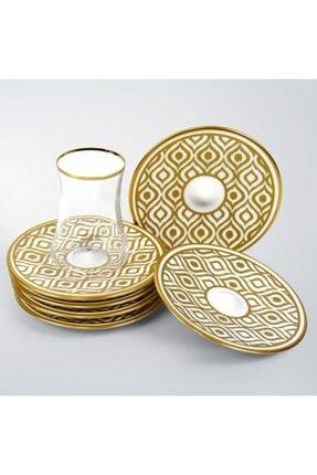Koleksiyon Ev ve Mobilya Dervish Ikat Gold 6'lı Çay Seti  31000040258 3
