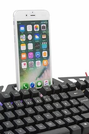 Everest Rampage KMX-99 Gaming Siyah Usb Gökkuşağı Zemin Aydınlatmalı Q Oyuncu Klavye + Mouse Set 1