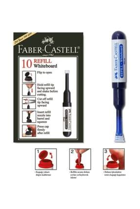 Faber Castell Beyaz Tahta Kalemi Mürekkep Refili 10`lu Kutu MAVİ 0