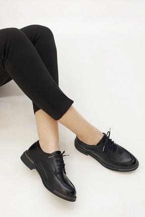 Marjin Kadın Siyah Oxford Ayakkabı Laves 2