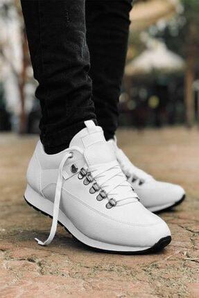 Carrano Tam Ortopedik Beyaz Trend Erkek Spor Ayakkabı 0