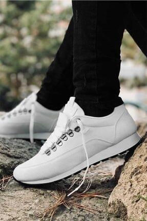 Carrano Tam Ortopedik Beyaz Trend Erkek Spor Ayakkabı 2