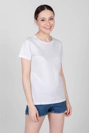 Addax Kadın Siyah Beyaz Ikili Bisiklet Yaka Basic T-Shirt P0371 - I6 Adx-0000022260 1
