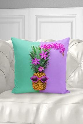 Ysahome Tek Tarafı Dijital Baskı Tropikal Meyve Desenli Dekoratif Modern Kırlent Yastık Kılıfı 2