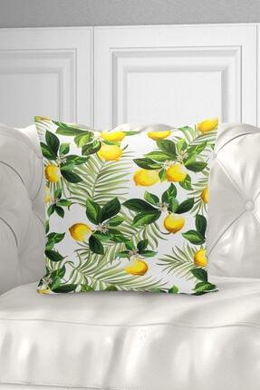 Ysahome Tek Taraf Baskı Özel Tasarım Suluboya Meyveler Temalı Dekoratif Modern Kırlent Yastık Kılıfı 2