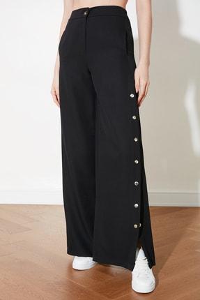 TRENDYOLMİLLA Siyah Yanları Çıtçıtlı Geniş Paça Pantolon TWOSS20PL0398 3