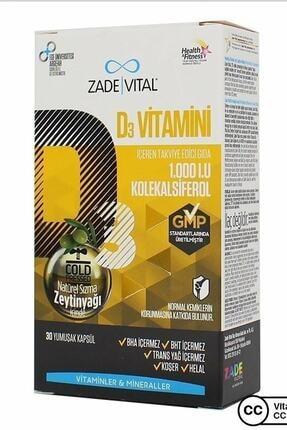 Zade Vital D3 Vitamin 30 Kapsül 0