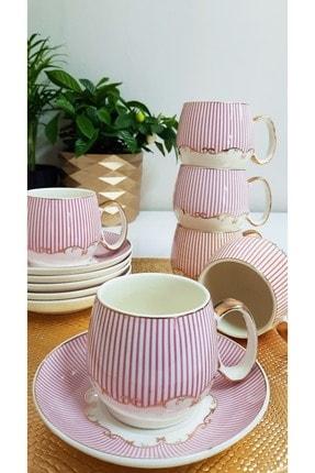 TİLLOEVDUNYASİ Renkli Porselen Nescafe Çay Fincan Takımı 6 Kişilik 1