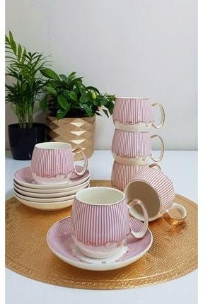 TİLLOEVDUNYASİ Renkli Porselen Nescafe Çay Fincan Takımı 6 Kişilik 2