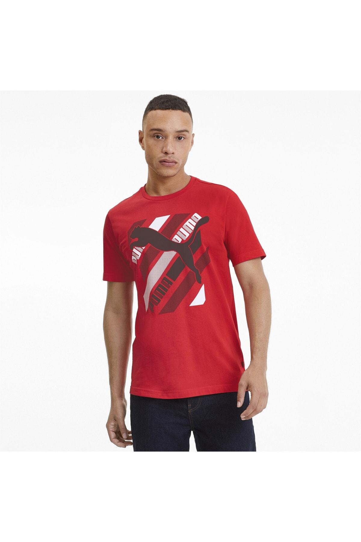 Erkek Cat Brand Graphıc T-shirt