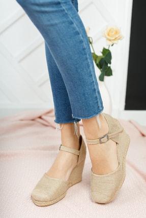 Moda Değirmeni Kadın Hasır Dolgu Topuklu Ayakkabı Md1013-120-0004 1