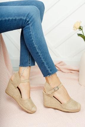 Moda Değirmeni Kadın Hasır Dolgu Topuklu Ayakkabı Md1013-120-0004 2