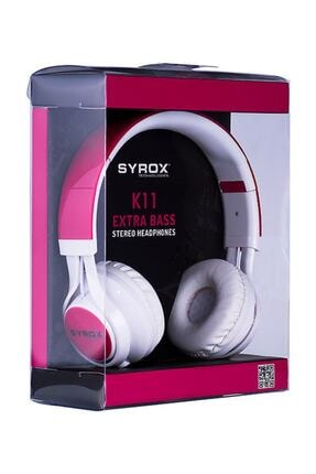Syrox Mikrofonlu Stereo Kablolu Kulak Üstü Kulaklık 0