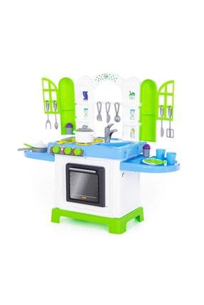 Poema&Rosa Dolaplı Oyuncak Mutfak Seti: Fırın + Fritöz + Lavabo + Ocaklı Set 0