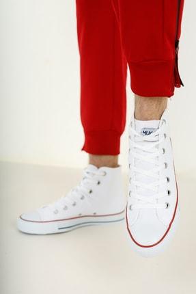 Muggo Unisex Beyaz Keten Ayakkabı Mgcrs37 3