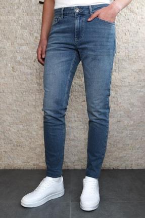 Collezione Collezıone Steve Taşlamalı Slim Fit Mavi Kot Pantolon 0