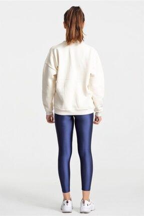 Modayıldızlar Kadın Krem Nike Yazılı Sweatshirt 3