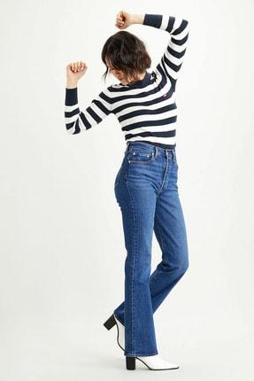 Levi's Kadın Mavi Ribcage Bootcut Yüksek Bel Jean 1