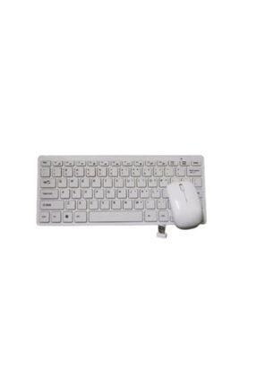 Teknoloji Gelsin Kablosuz Klavye Mouse Seti Mini Wireless Smart Tv Ve Pc Uyumlu Q Klavye Beyaz 0