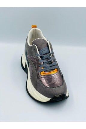 Pierre Cardin Gümüş Parlak Ortopedik Hafızalı Tabanlıklı Hafif Rahat Konforlu Spor Ayakkabı 3