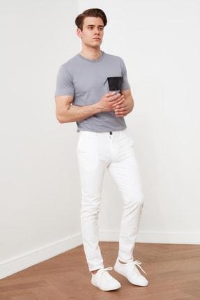 Beyaz Erkek Chino Pantolon TMNSS21PL0644 resmi