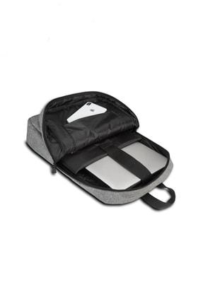 İDABAG Id-001 Notebook Laptop Sırt Çantası Gri 15,6 3