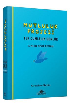Pegasus Yayınları Mutluluk Projesi  Tek Cümlelik Günlük 5 Yıllık Seyir Defteri Ciltli 0