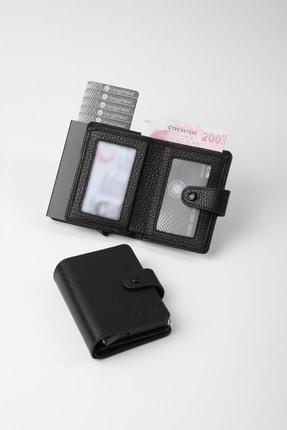 Cengiz Pakel Gerçek Deri Mekanizmalı Siyah Kartlık-cüzdan 0