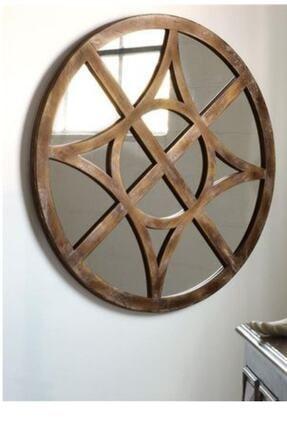keskin ant bıçak Dekoratif Ahşap Duvar Aynası 32 cm 2