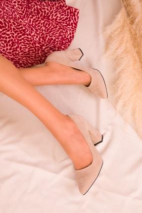 Soho Exclusive Ten Süet Kadın Klasik Topuklu Ayakkabı 15313 2