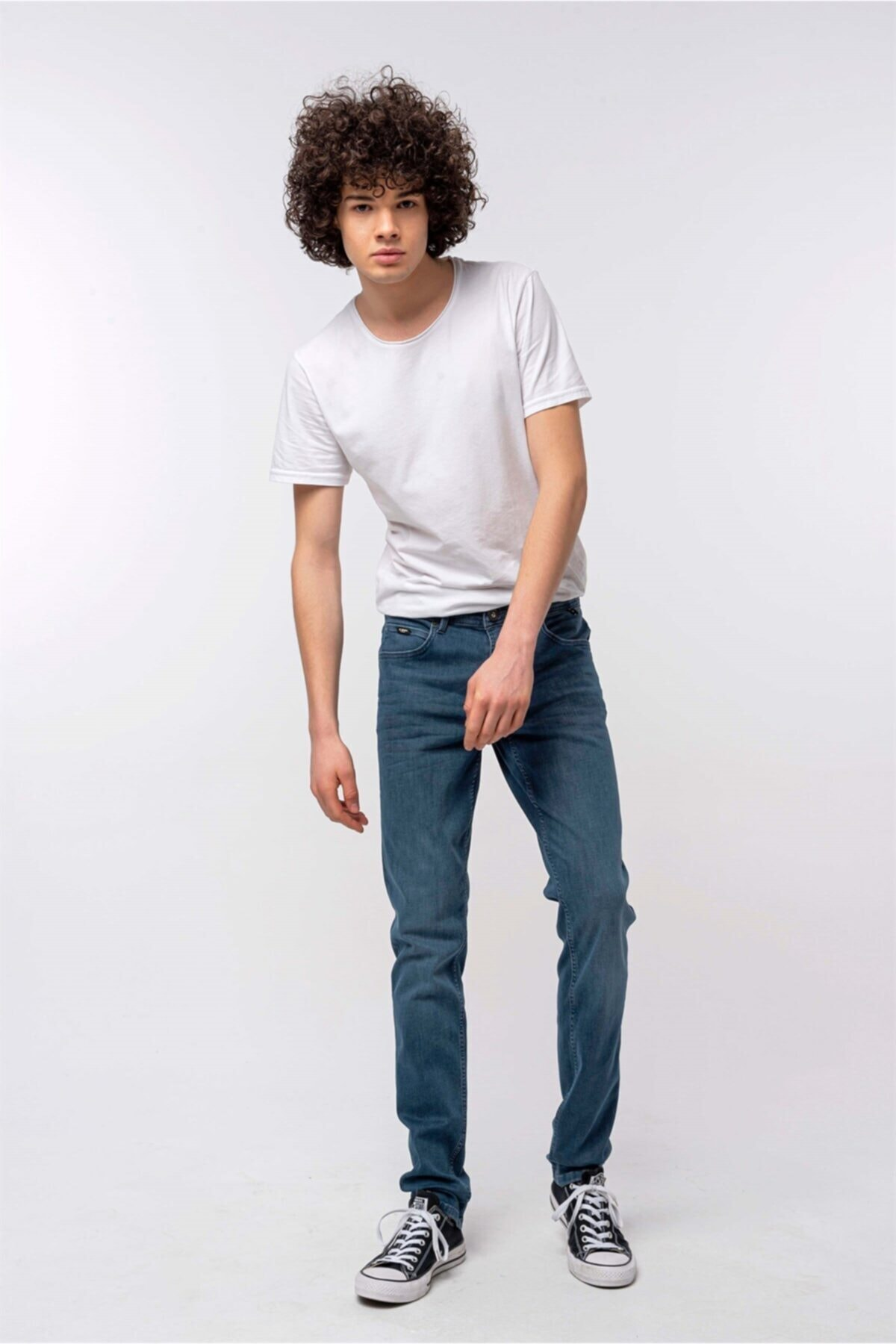Erkek Regular Fit Vintage Yıkama Fere Kot Pantolon