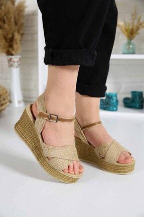 Ccway Kadın Hasır Sandalet 2