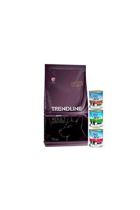 Trendline Biftekli Yetişkin Kuru Köpek Maması 15 Kg + 3 Adet Köpek Konservesi 0