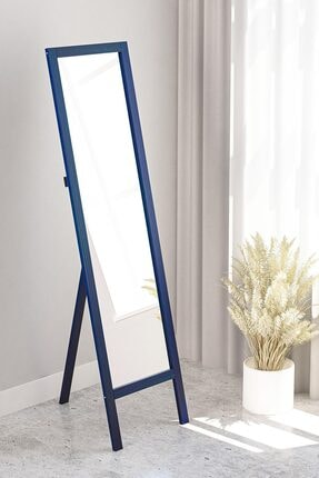 bluecape mAVİ Floransa Ayaklı Antre Hol Koridor Salon Banyo Ofis Çocuk Yatak Odası  Boy Aynası 38x145cm 1