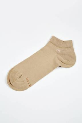 Hemington Erkek Bej Pamuklu Camel Kısa Sneaker Çorabı 1