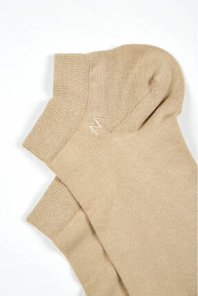 Hemington Erkek Bej Pamuklu Camel Kısa Sneaker Çorabı 2