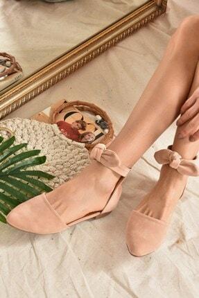 Fox Shoes Kadın Pudra Süet  Babet H726761502 0