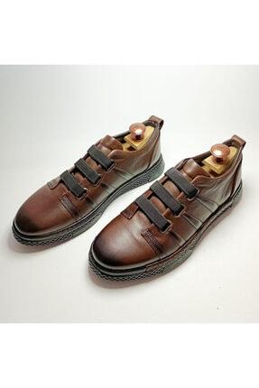 Ayakkabium Erkek Kahverengi Sneaker Günlük Ayakkabı 2