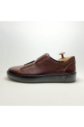Ayakkabium Eng0102 Içi Dışı Hakiki Deri Yüksek Taban Kahverengi Erkek Sneaker Günlük Ayakkabı 4