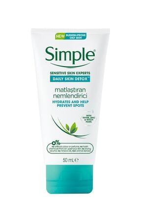 Simple Daily Skin Detox Yağlı/Karma Ciltler İçin Kekik Özlü Matlaştıran Nemlendirici 50 ml 0