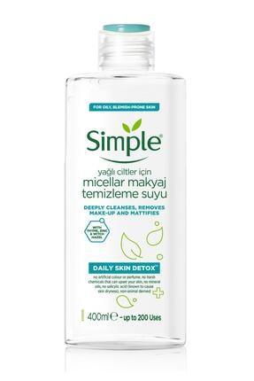 Simple Daily Skin Detox Yağlı/Karma Ciltler İçin Micellar Makyaj Temizleme Suyu 400 ml 0