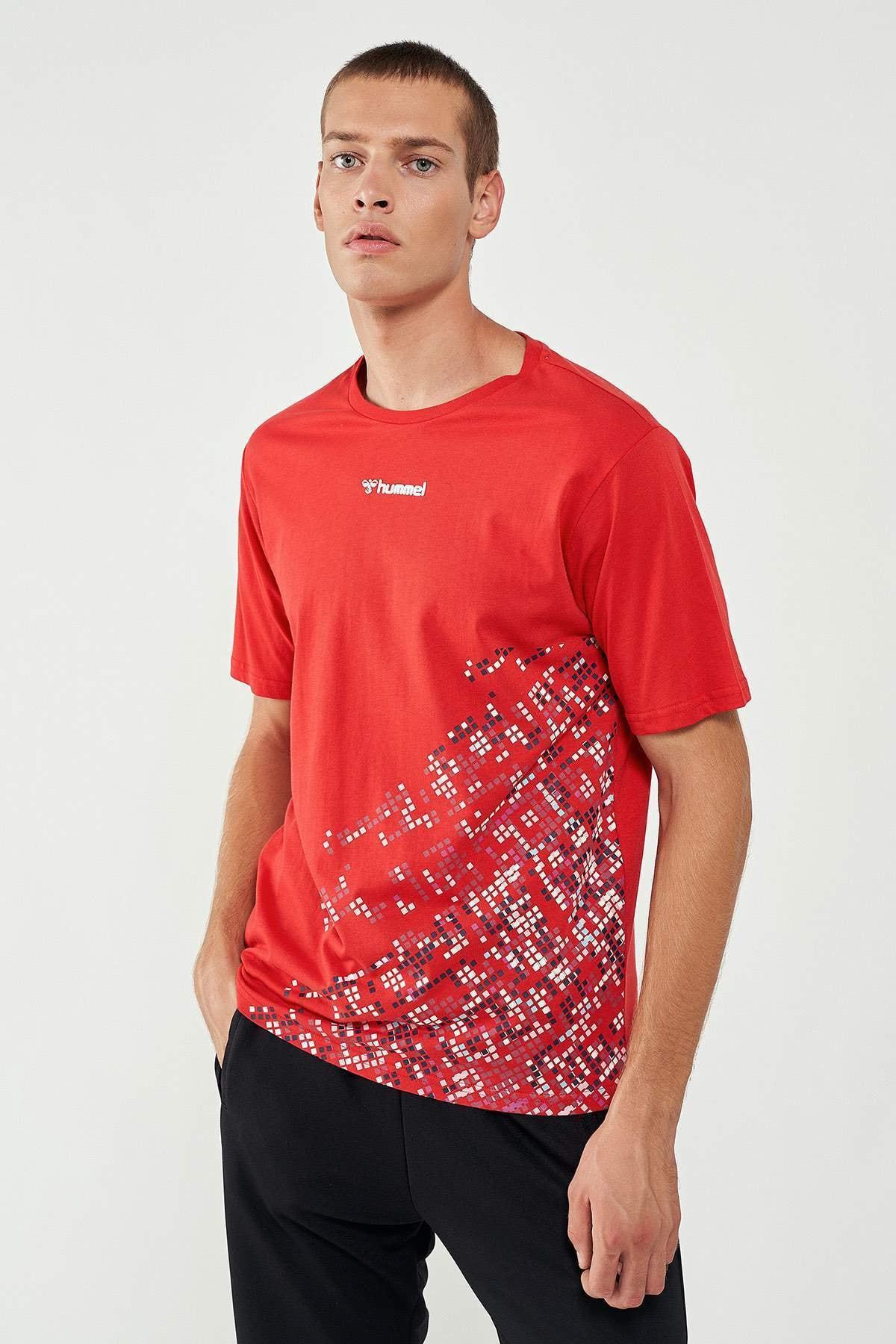 HUMMEL Erkek Kırmızı Welo Kısa Kollu Tişört 0