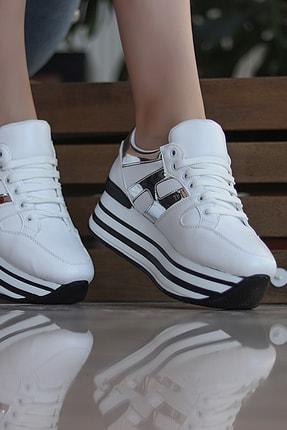 TRENDBU AYAKKABI Beyaz Kadın Sneaker SPOR1515 1