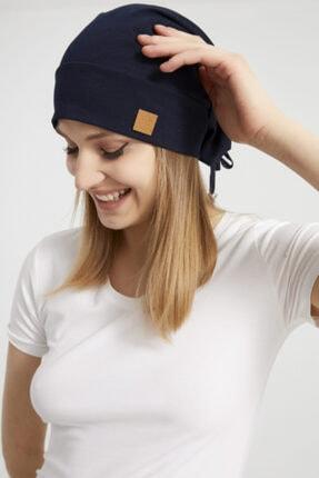 Butikgiz Kadın Siyah, Ip Detaylı Özel Tasarım 4 Mevsim Şapka Bere Buff -ultra Yumuşak Doğal Penye Kumaş 0