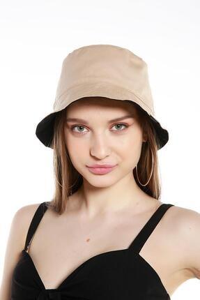 Y-London 13614 Çift Taraflı Siyaha Bej Tas Şapka 0