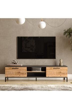 Yurudesign Royal 2 Kapaklı Metal Ayaklı Çam Tv Ünitesi Rl1-aa 0