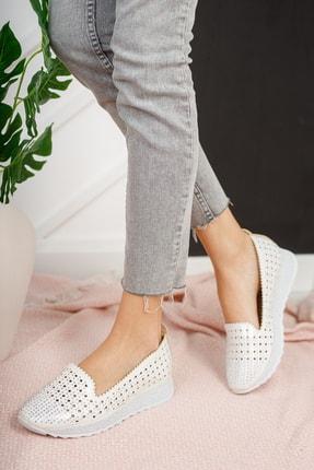 Moda Değirmeni Kadın Gri Taşlı Günlük Ayakkabı Md1016-111-0001 1