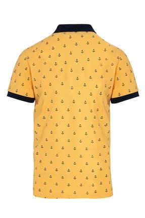 Hatemoğlu Sarı Baskılı Polo Yaka Tişört 1