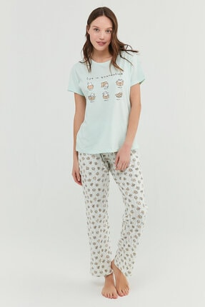 Penti Mint Yeşili Cat Life Pantolon Takımı 1